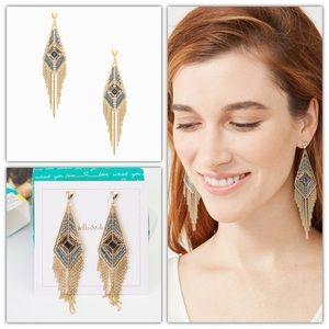 Stella & Dot Aiyana Fringe Chandeliers Earrings
